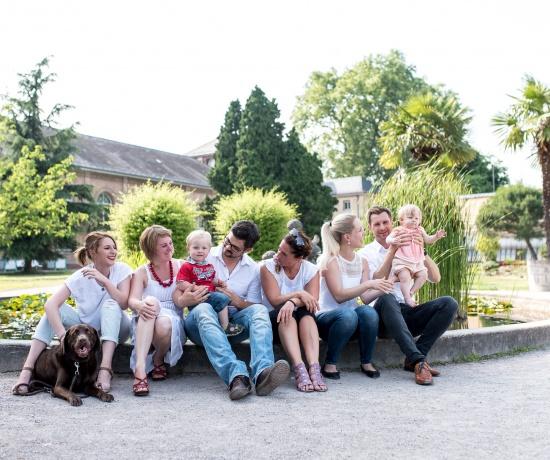 Familienaufnahmen Botanischer Garten Karlsruhe